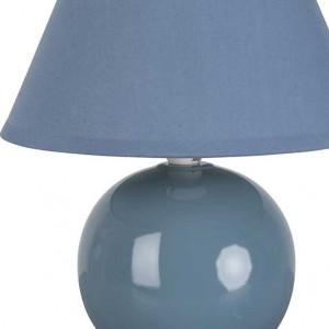 Lampe boule bleue