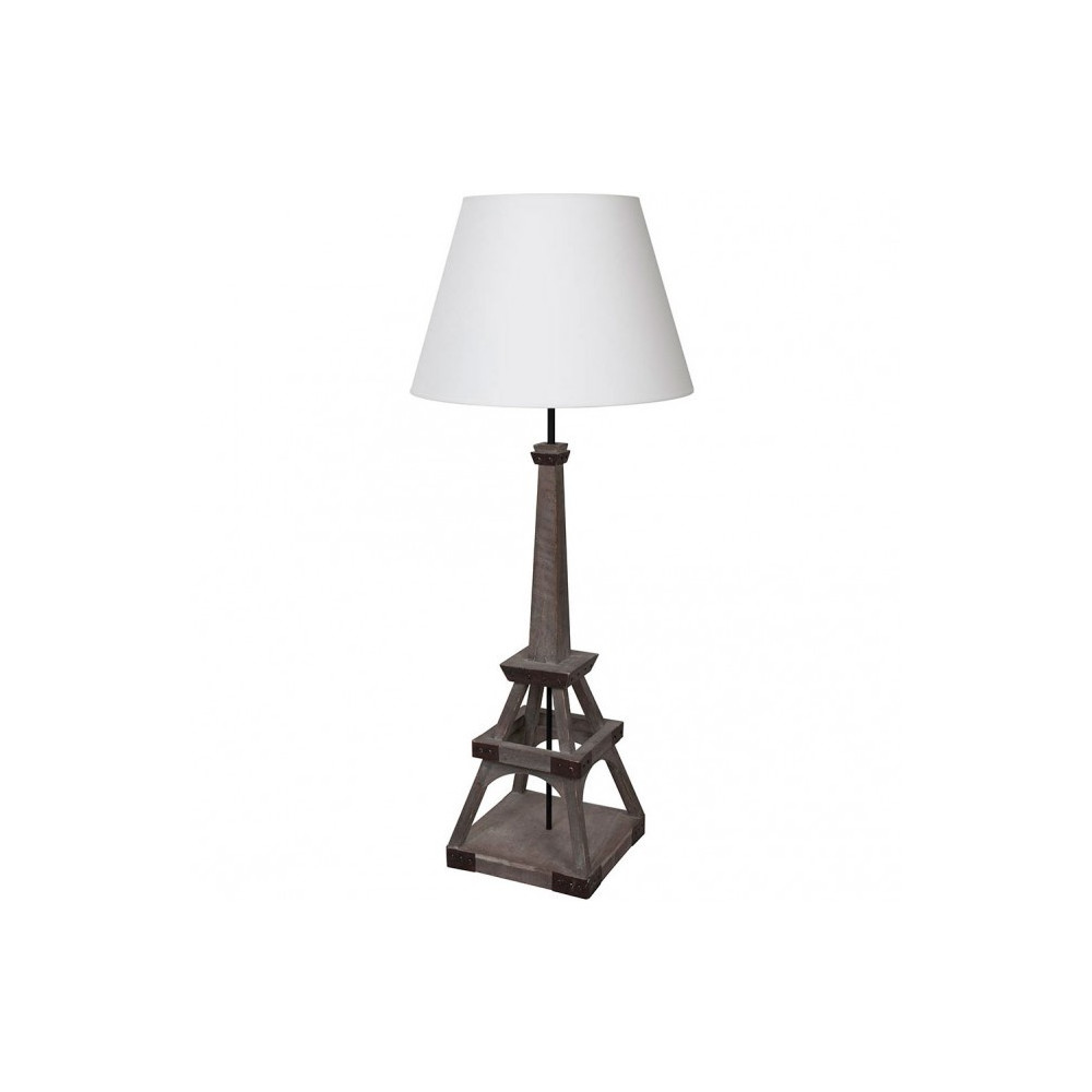 lampe haute en bois tour eiffel acheter sur lampe avenue. Black Bedroom Furniture Sets. Home Design Ideas