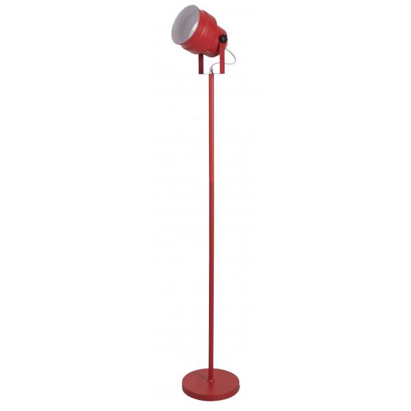 lampadaire forme spot en m tal rouge en vente sur lampe. Black Bedroom Furniture Sets. Home Design Ideas