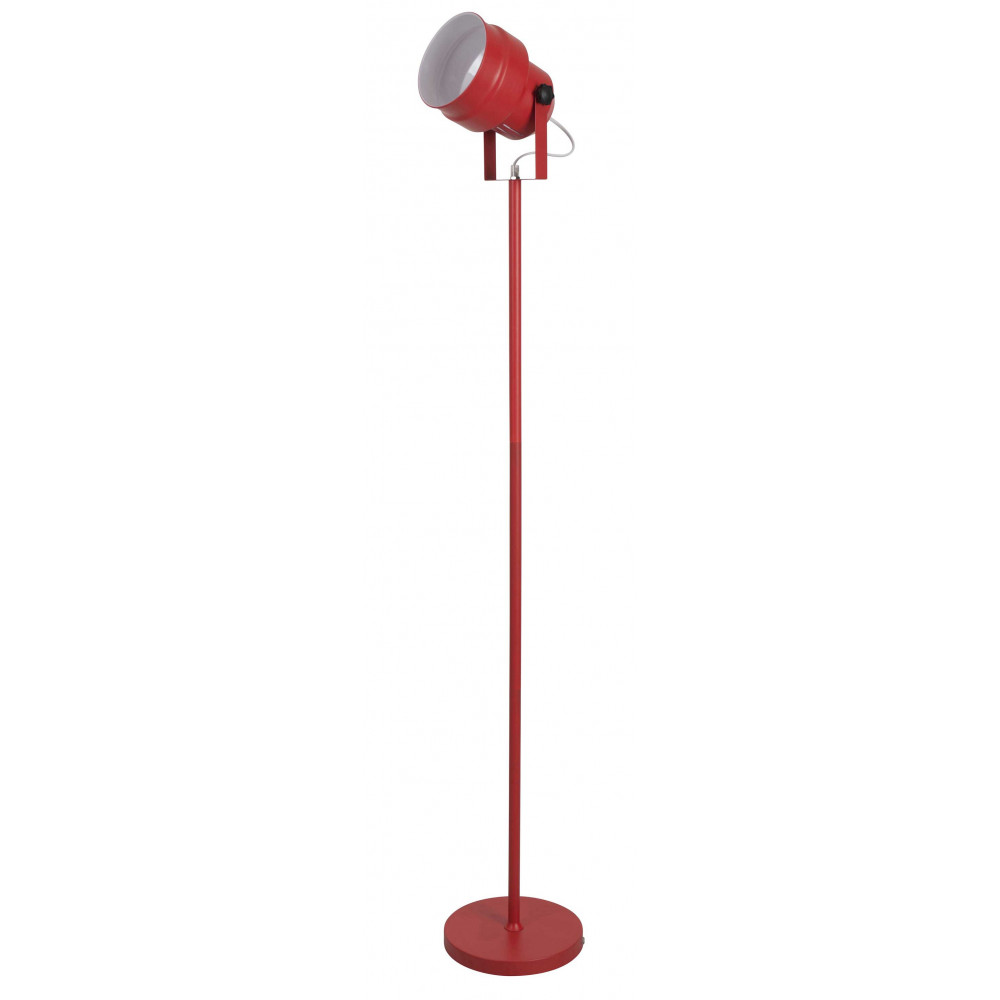 lampadaire forme spot en m tal rouge en vente sur lampe. Black Bedroom Furniture Sets. Home Design Ideas