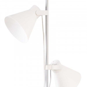 Lampadaire blanc liseuse