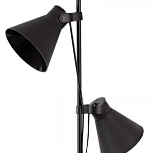 Lampadaire métal noir