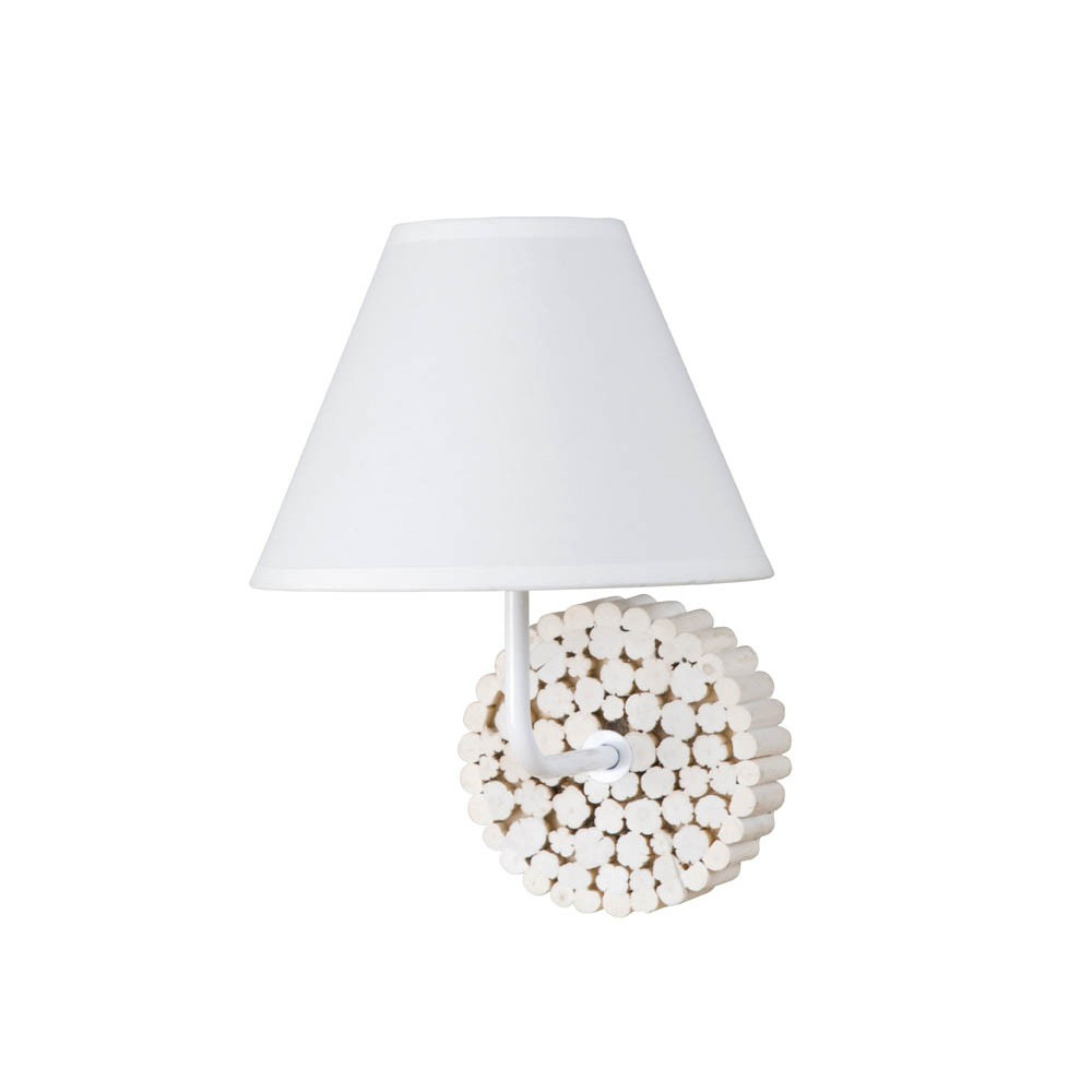applique en rondins de bois coloris naturel luminaire d co sur lampe avenue. Black Bedroom Furniture Sets. Home Design Ideas