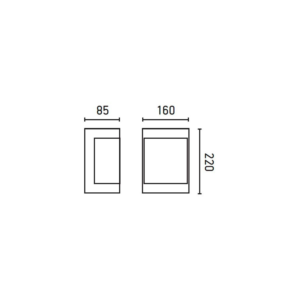 Applique inox pour l 39 ext rieur lampe avenue - Applique exterieur design inox ...