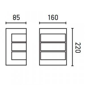 Applique extérieure dimensions