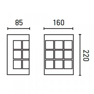 Applique extérieur inox pas chère dimensions