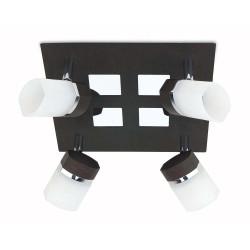 Plafonnier 4 spots noir