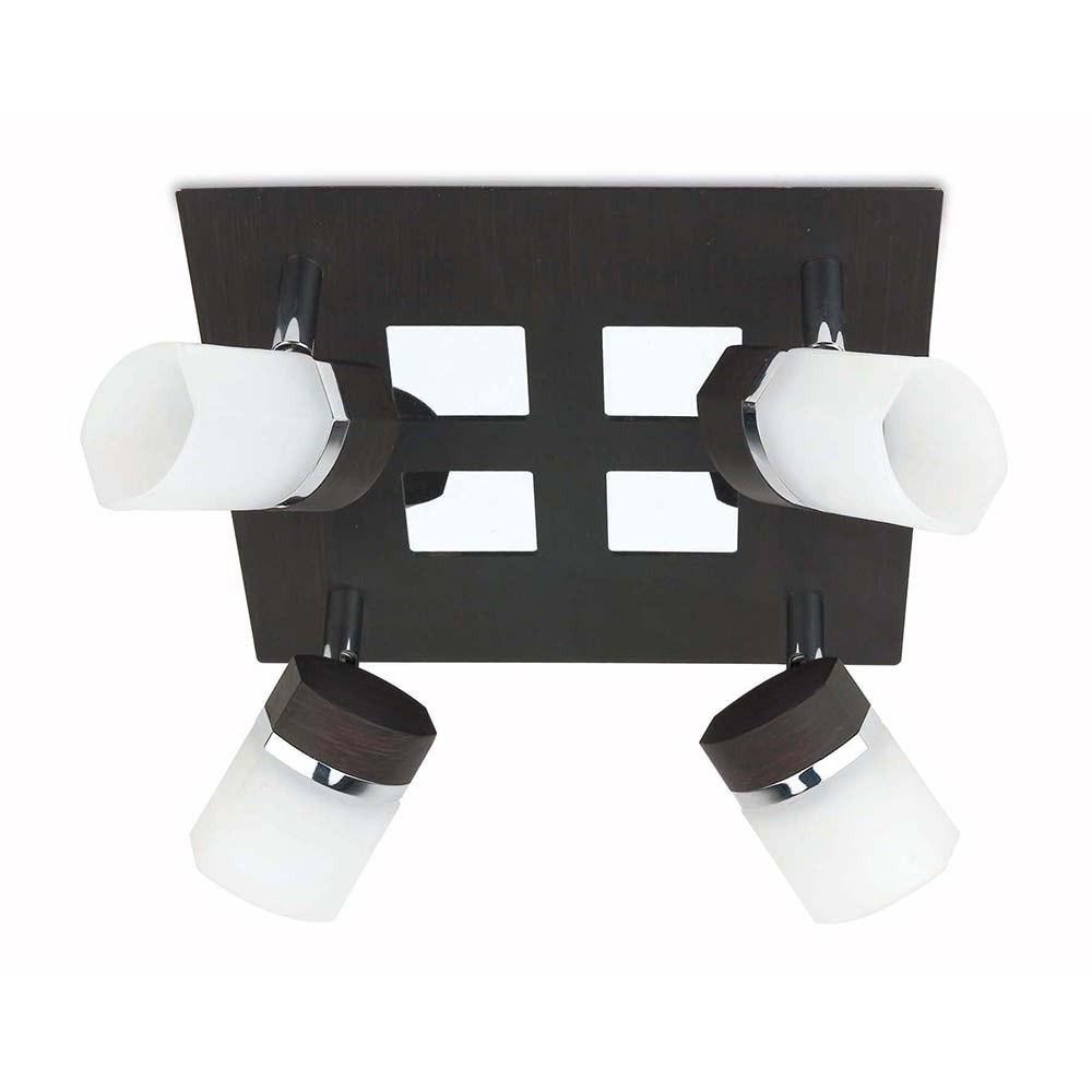 plafonnier carr noir lampe avenue. Black Bedroom Furniture Sets. Home Design Ideas