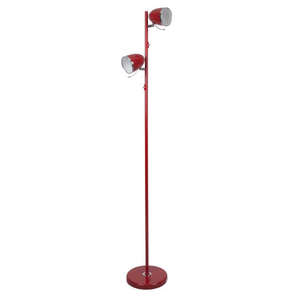 Lampadaire rouge métal