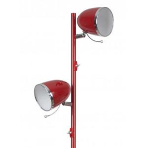 Lampadaire rouge 2 éclairages