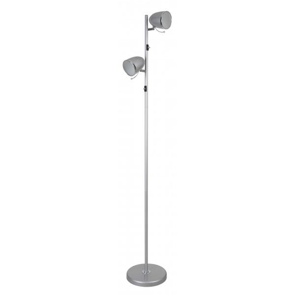 Lampadaire métal gris