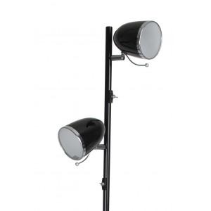 Lampadaire métal noir spots