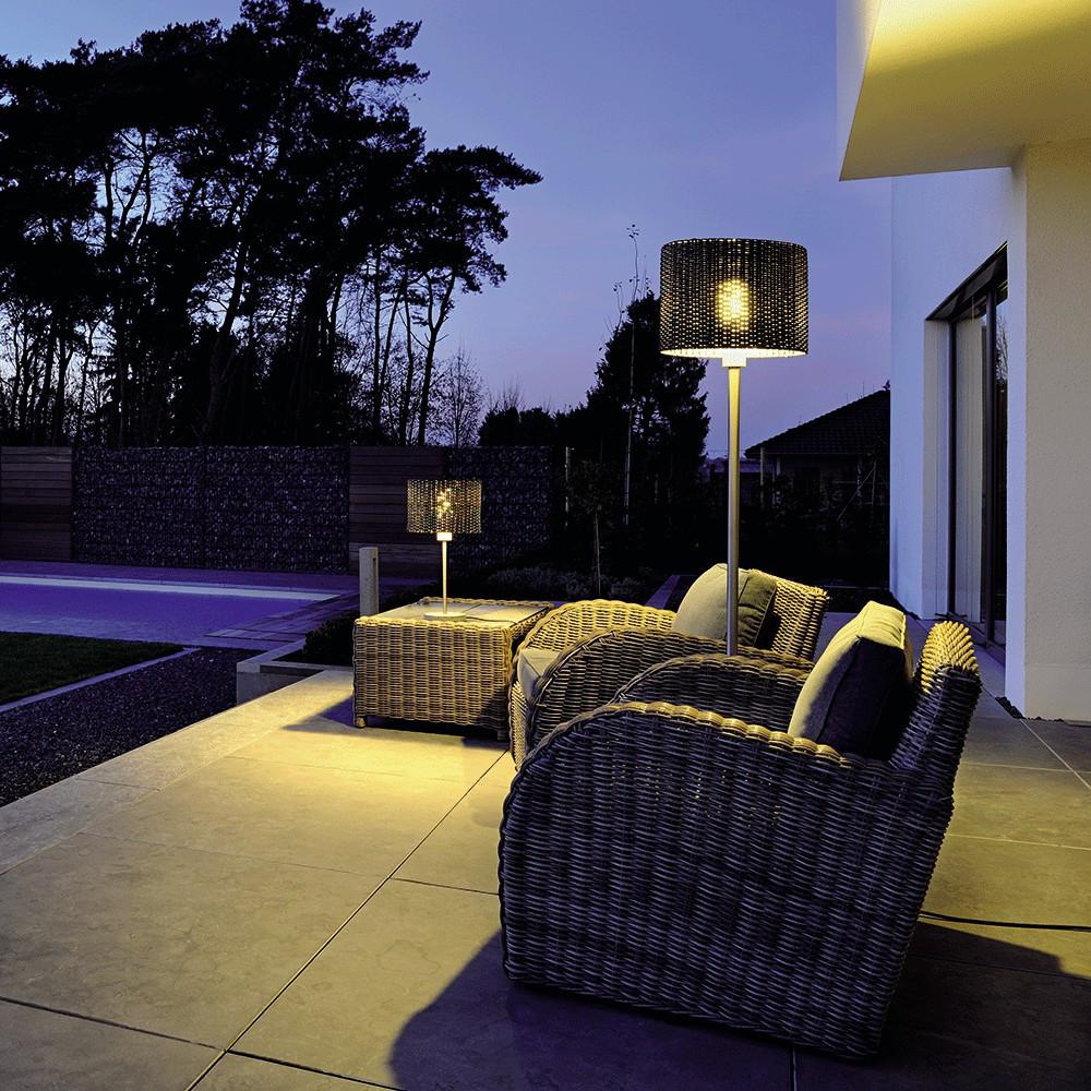 lampadaire ext rieur d co en inox lampe avenue. Black Bedroom Furniture Sets. Home Design Ideas