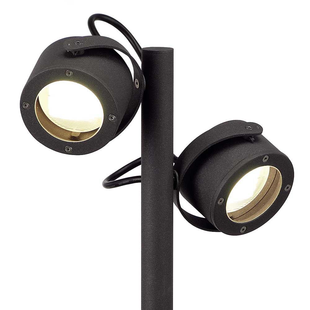 Balise ext rieure avec 2 spots orientables lampe avenue for Spot exterieur orientable
