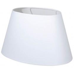 Abat-jour ovale blanc