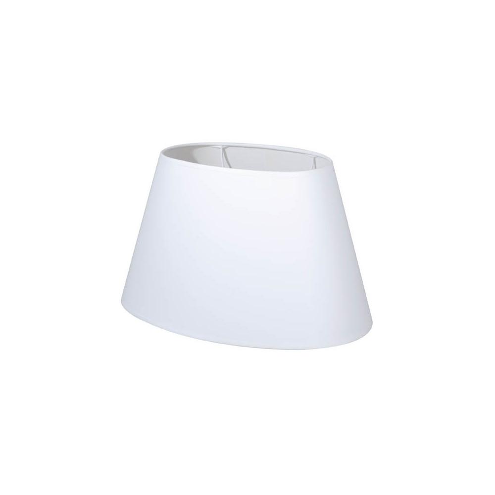 abat jour ovale blanc en coton sur lampe avenue. Black Bedroom Furniture Sets. Home Design Ideas