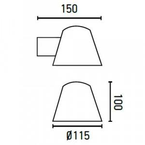 Applique noire dimensions