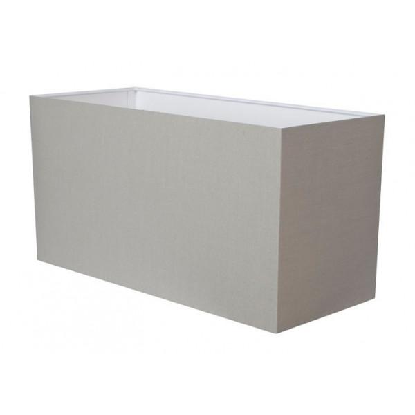 Abat-jour gris ciment rectangulaire