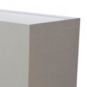 Abat-jour gris ciment tissu