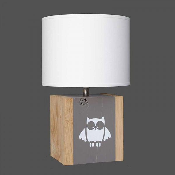 Lampe hibou taupe