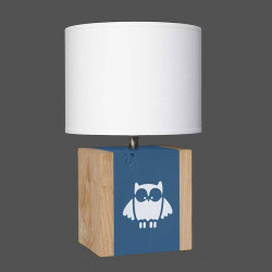Lampe bleu nuit hibou