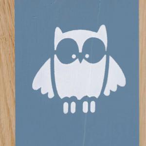 Lampe hibou bleue