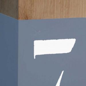 Lampe en chêne gris bleu