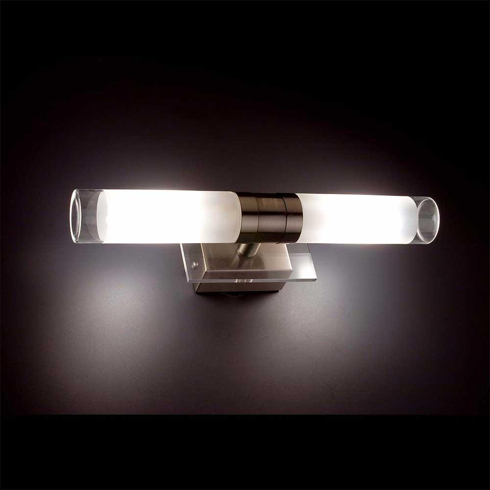 applique salle de bain en alu et verre lampe avenue