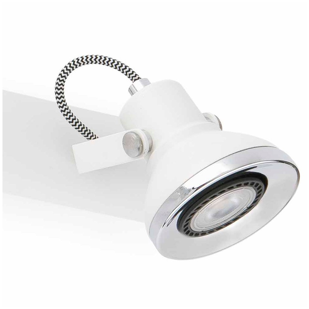 Triple spot design blanc led lampe avenue for Spot exterieur design