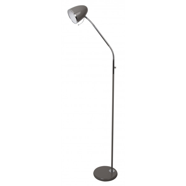 Lampadaire métal gris taupe