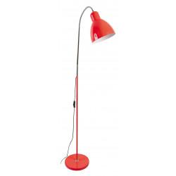 Lampadaire métal rouge