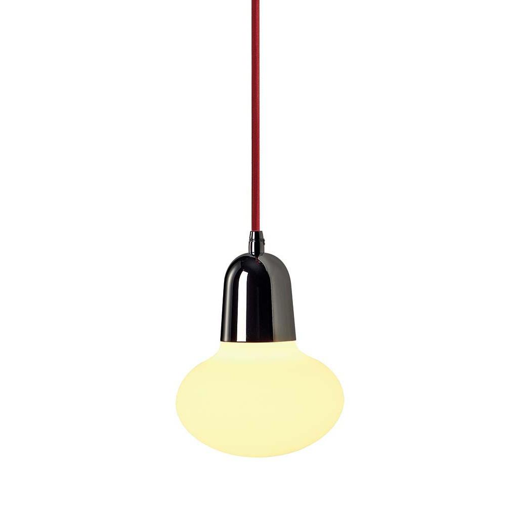 Suspension en verre avec cordon rouge lampe avenue for Lampe suspension verre