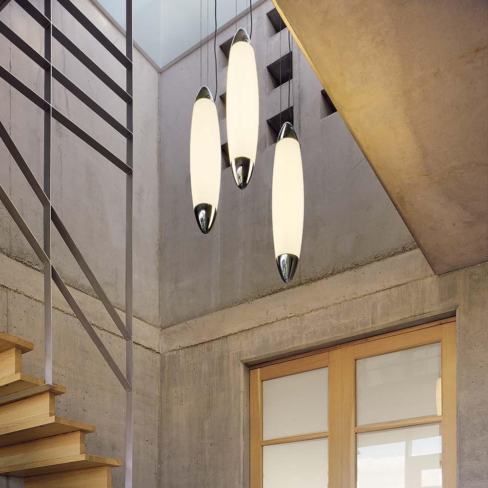 Suspension design moderne avec diffuseur lampe avenue for Suspension exterieure avec detecteur