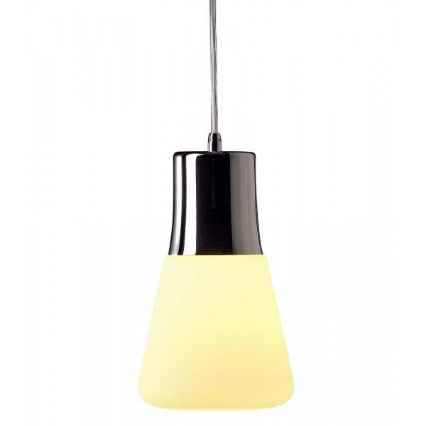 Suspension Originale Verre Et Acier Chrom Lampe Avenue