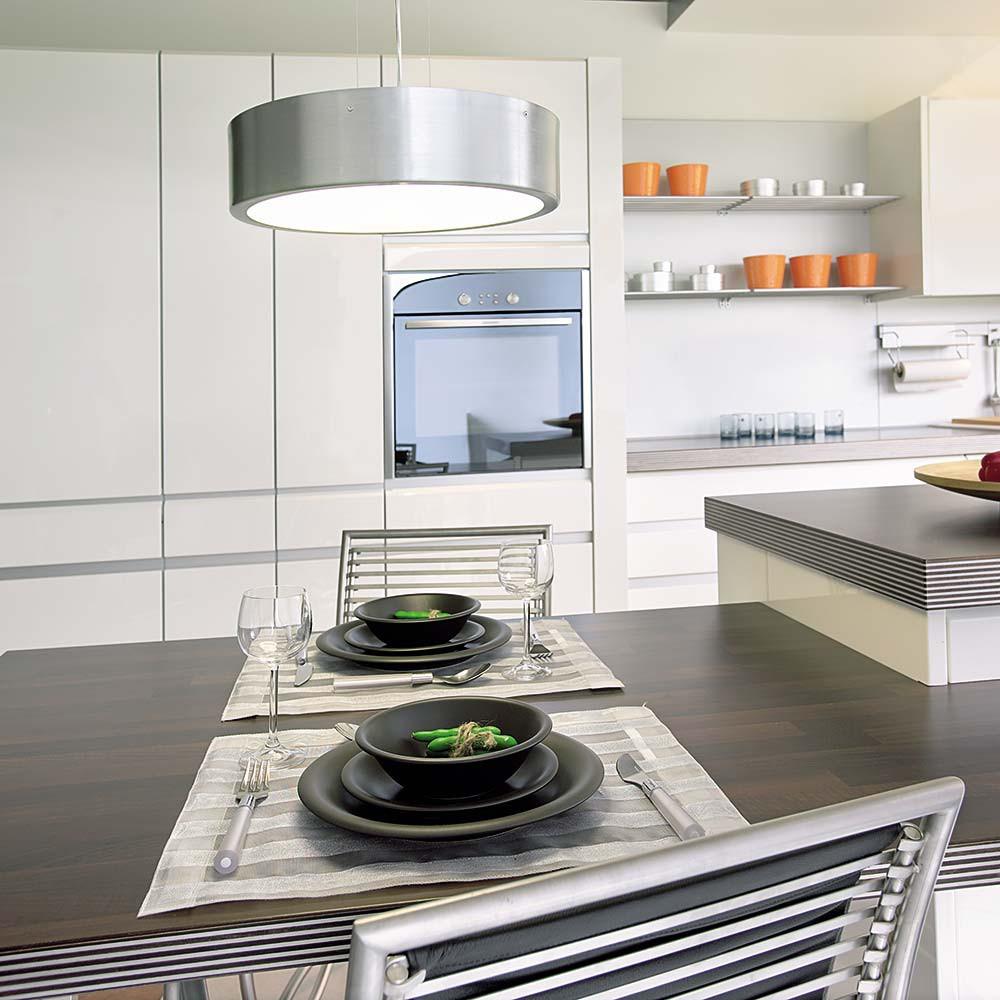 suspension cuisine en verre et alu lampe avenue. Black Bedroom Furniture Sets. Home Design Ideas