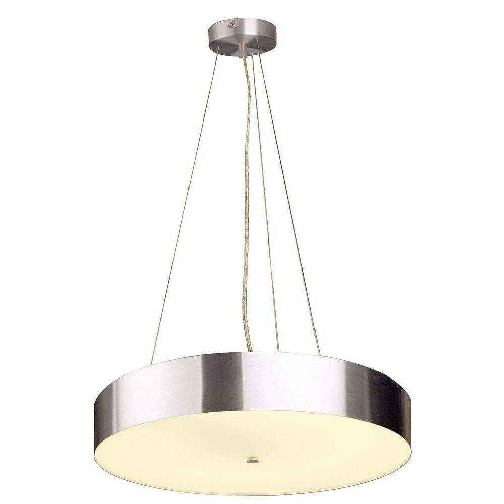 Grande suspension pour cuisine en verre et alu lampe avenue for Suspension led pour cuisine