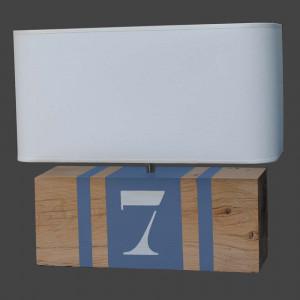 Lampe brick XL L34 bleue