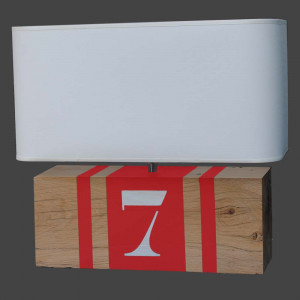 Lampe brick XL rouge
