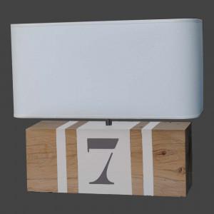 Lampe brick XL blanche