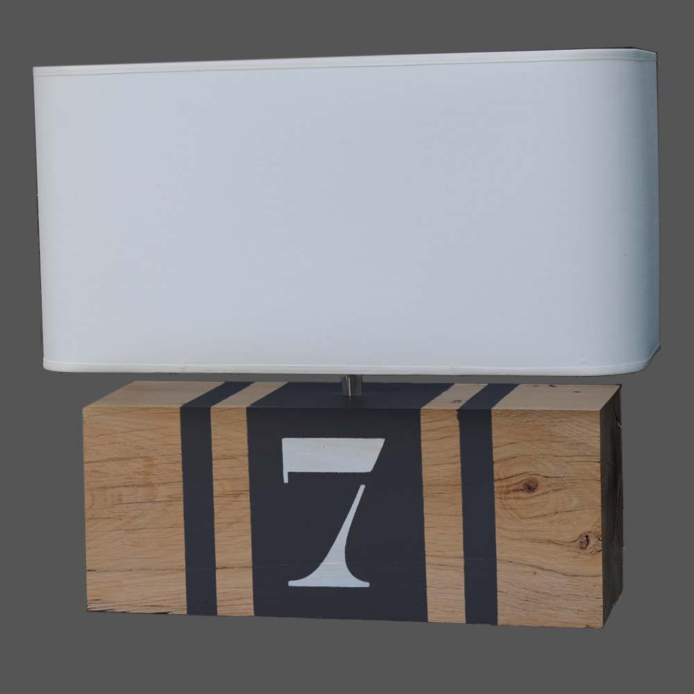 Lampe bois l34 personnalisable achat luminaire bois sur for Luminaire exterieur bois