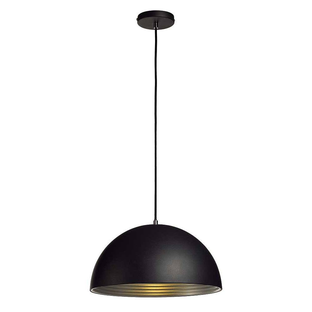 Suspension d me alu noir int rieur argent lampe avenue for Suspension interieur