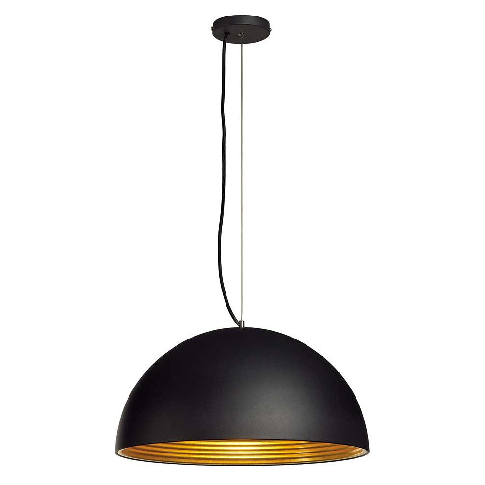 suspension alu noir int rieur dor lampe avenue