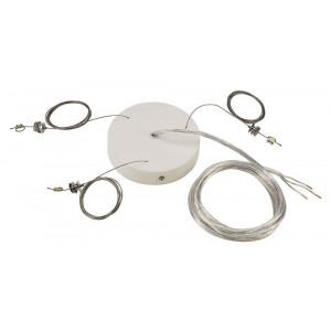 Kit de suspension pour grand plafonnier blanc