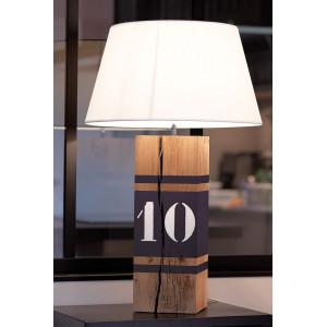 Lampe bois grise