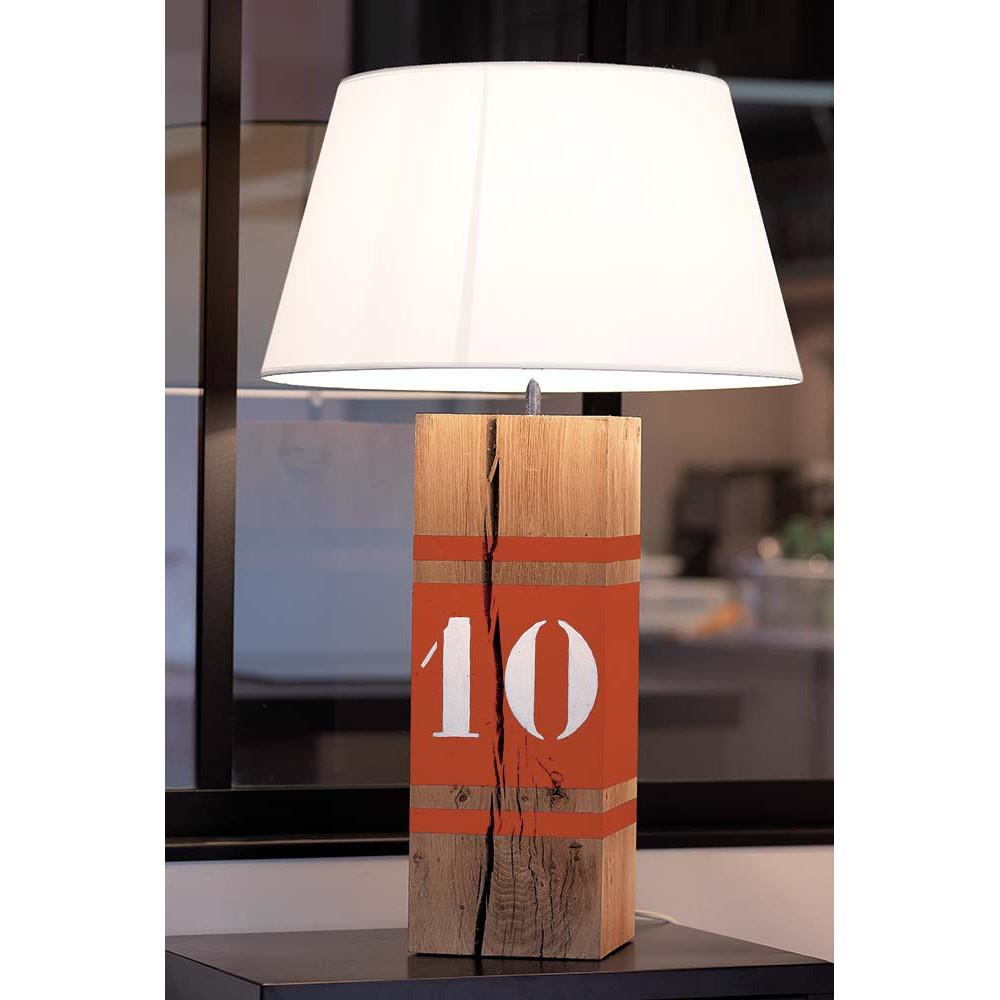 lampe haute l34 orange en bois en vente sur lampe avenue. Black Bedroom Furniture Sets. Home Design Ideas