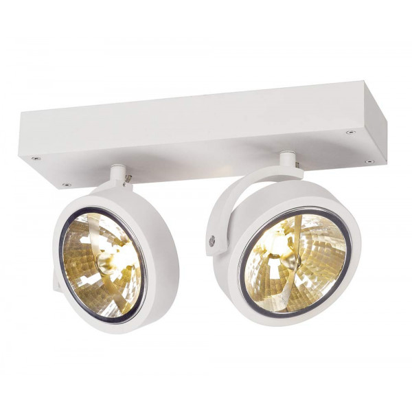 spot design double blanc plafond ou mur lampe avenue. Black Bedroom Furniture Sets. Home Design Ideas