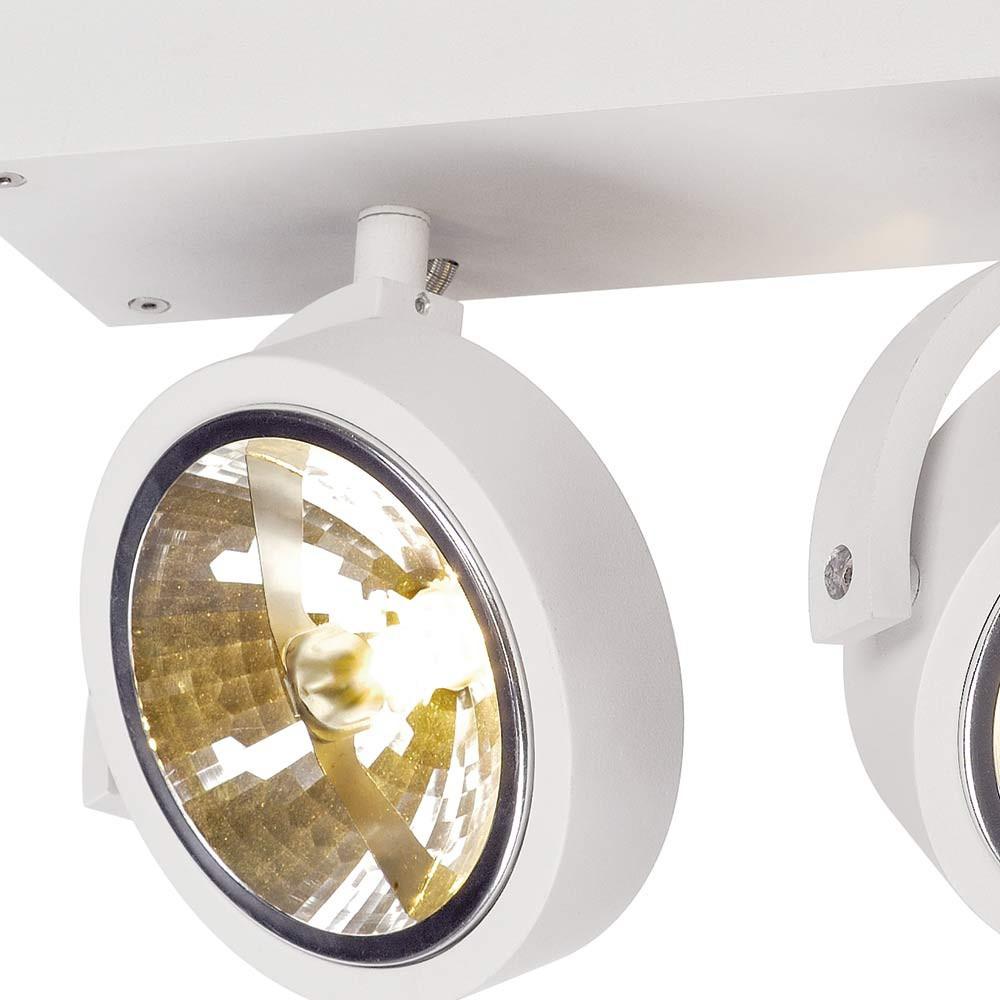 Spot design double blanc plafond ou mur lampe avenue for Spot encastrable plafond design