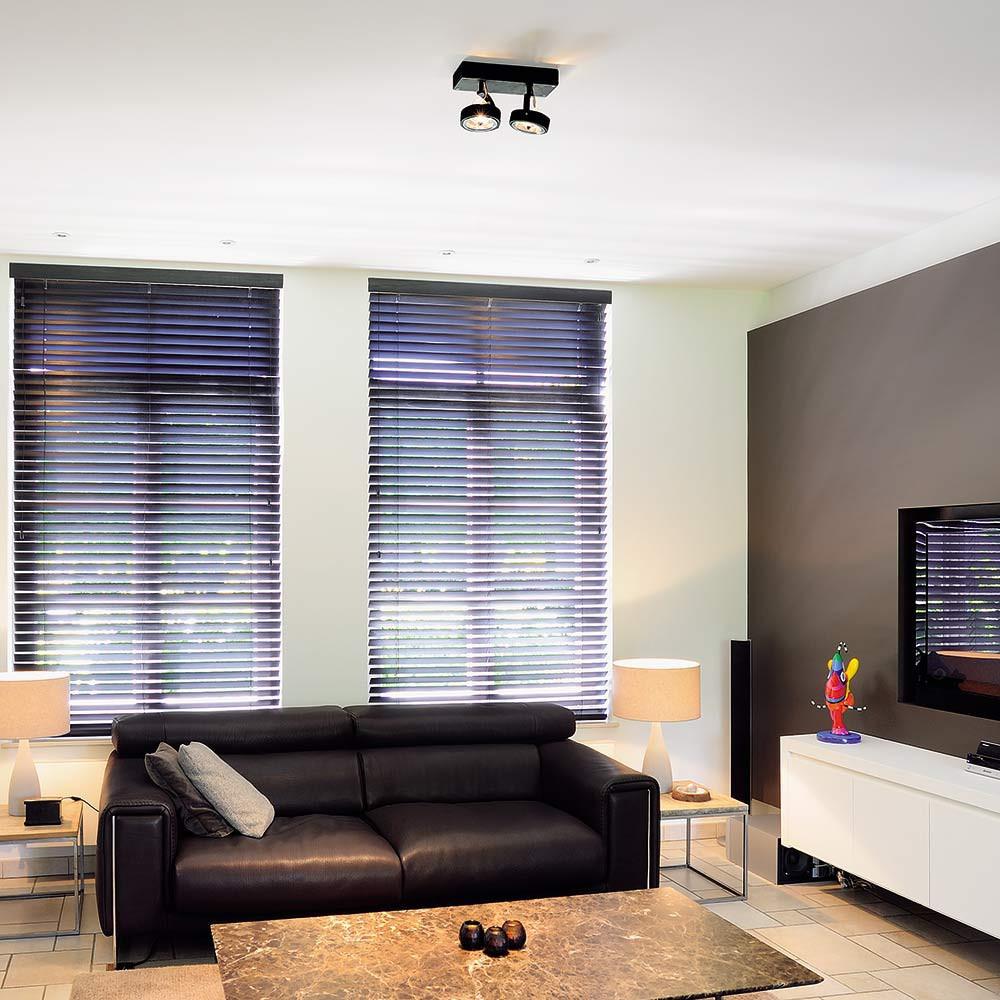 Spot noir double plafond ou mur   lampe avenue