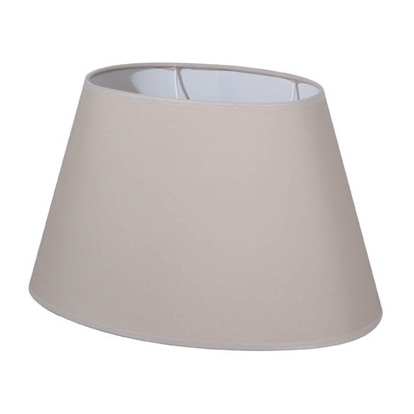 abat jour ovale en coton couleur beige clair lampe avenue. Black Bedroom Furniture Sets. Home Design Ideas