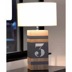 Lampe taupe L34